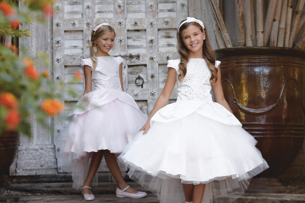 Petit communion dress high low