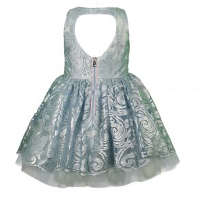 Teen powder lace dress back