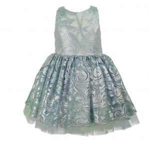 Teen powder lace short dress