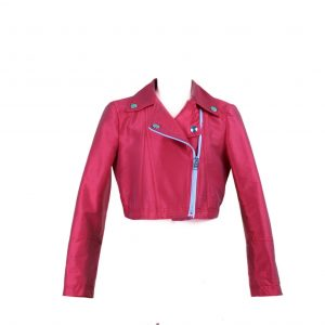 Petit red biker jacket