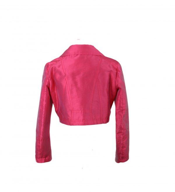 Petit red biker jacket back