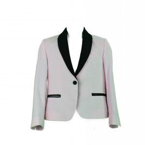 Teen Pink velvet Blazer front