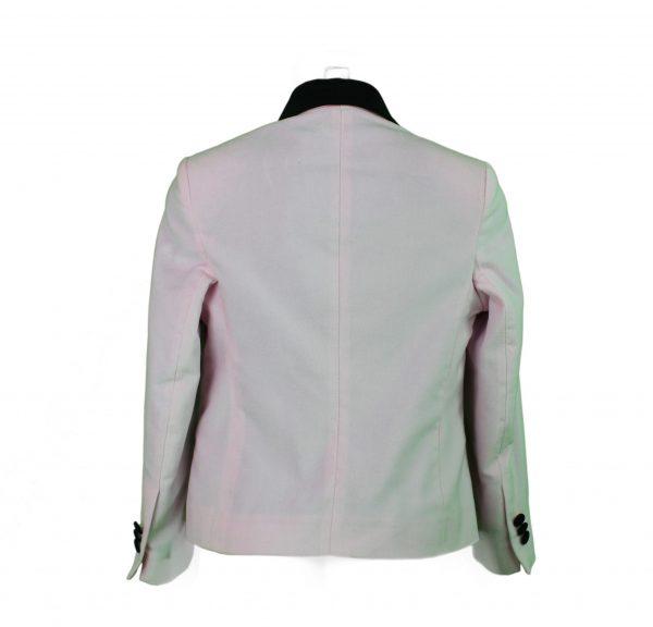 Teen Pink velvet Blazer back