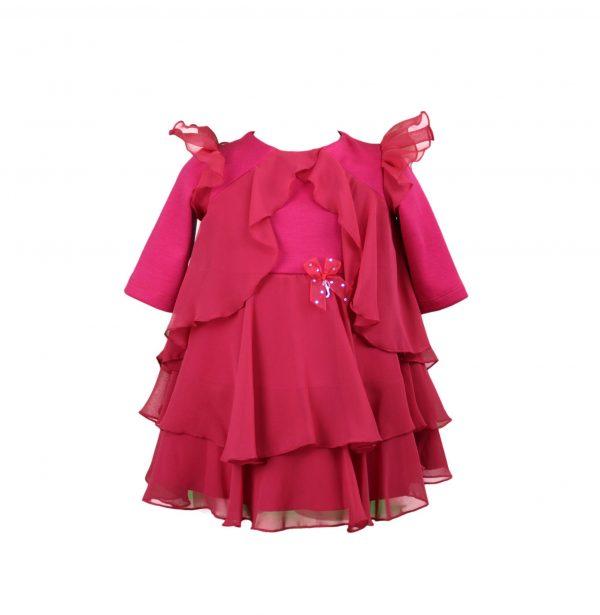 Petit red layered dress