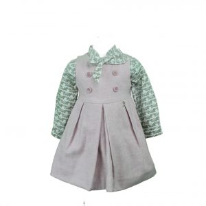 Pinafore dress with blouse