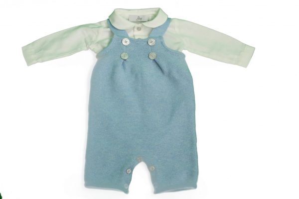 Baby romper in blue with shirt
