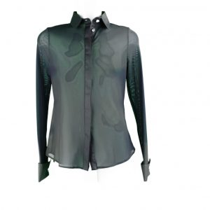 Black tulle blouse