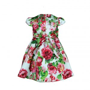 Petit Red Floral dress