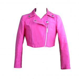Petit hot pink biker jacket