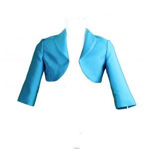 Petit turquoise bolero jacket