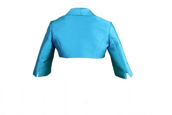 Petit turquoise bolero jacket back