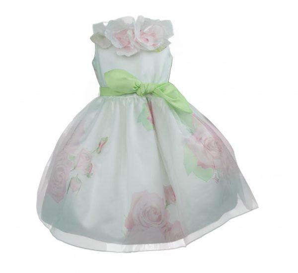 Petit Ivory pink floral dress front