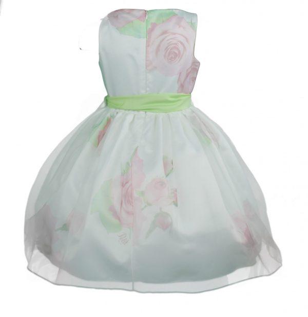 Petit Ivory pink floral dress back