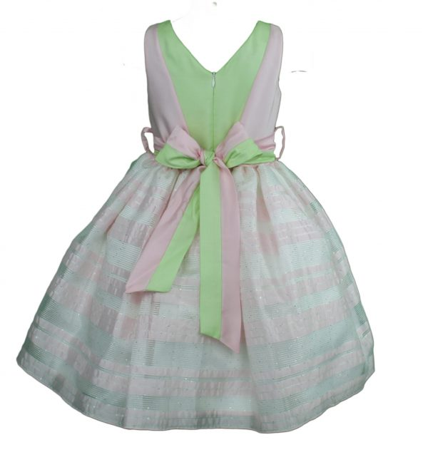 Petit Pink stripped dress back
