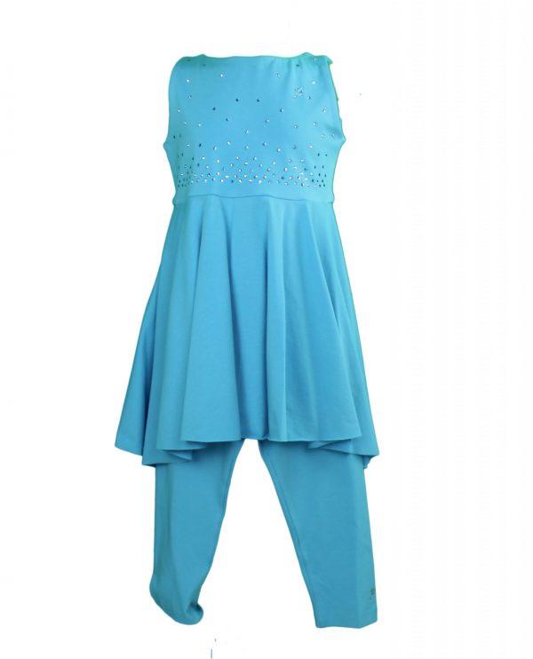 Petit Top & leggings in turquoise