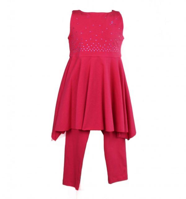 Petit Top & leggings in red