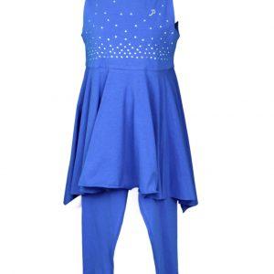 Petit Top & leggings in cobalt blue