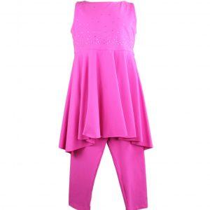 Petit top & leggings hot pink