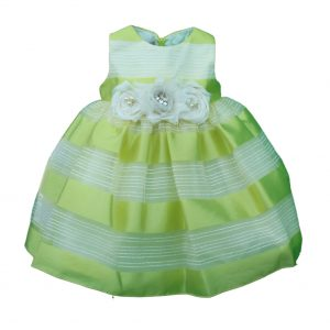 Baby dress lemon and lime stripped dress