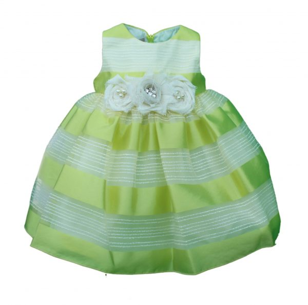 Baby dress lemon and lime stripped dress