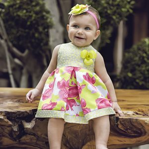 Baby lemon carp patterned dress