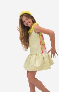 Lemon dress with collar