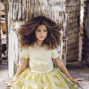 Lemon tutu dress with collar