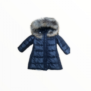 Navy padded coat with hood