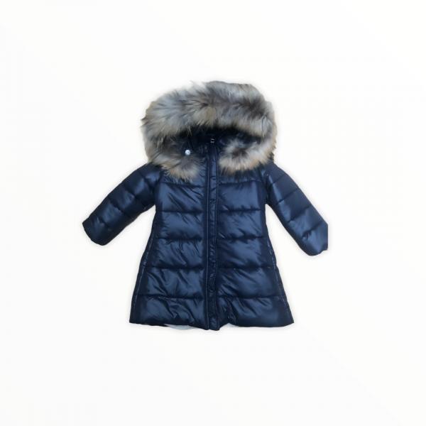 Navy padded coat with hood