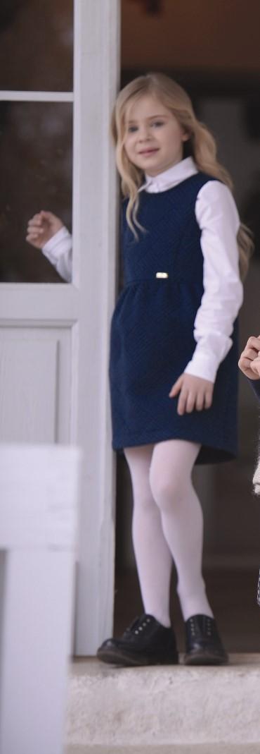 Navy sleeveless dress with pockets
