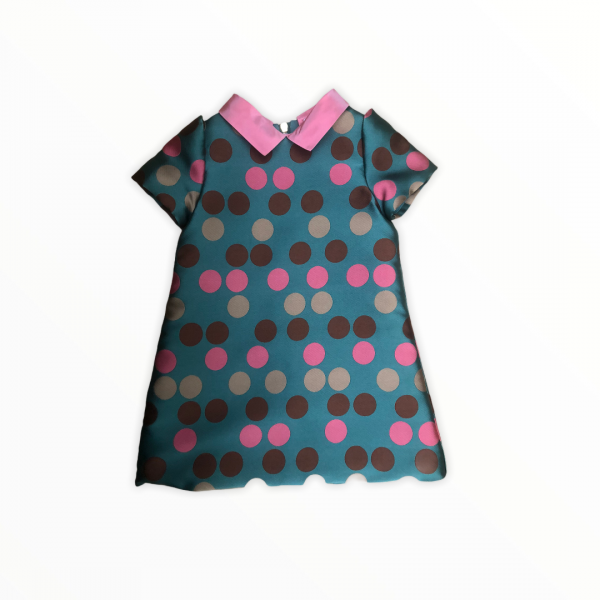 Petit A-line polka dot dress