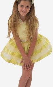 Teen lemon dress with tutu