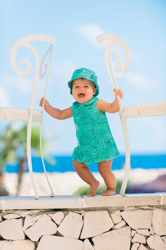 Aqua baby dress
