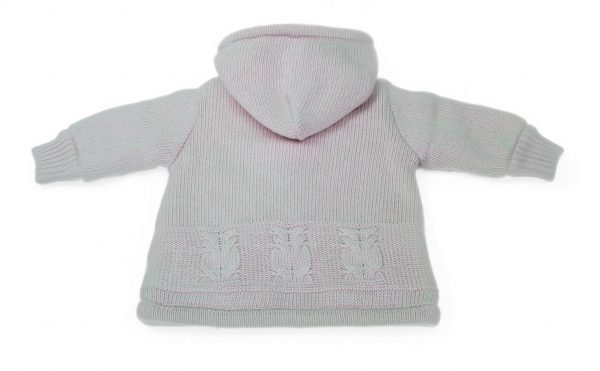 Baby coat knit back