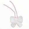 Pink bow baby bib