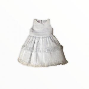 White raffia style dress