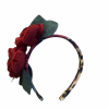 Leopard print rose hairband