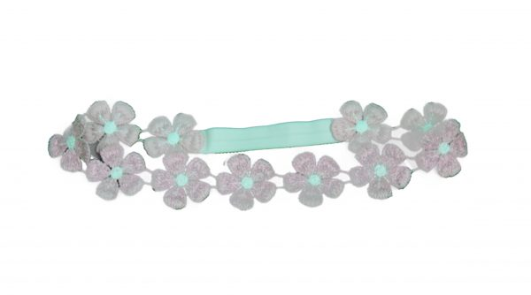 Girls pink floral hair band